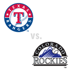 Texas Rangers at Colorado Rockies